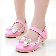 Girl's Flats Spring / Summer Mary Jane Dress Flat Heel Bowknot Blue / Pink / White Walking