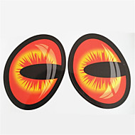 3D Simulation 0f Cat Eye Stickers Funny Block Car Stickers