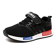운동화-야외 / 캐쥬얼-여아 신발-컴포트 / 둥근 앞코-튤-플랫-블랙 / 블루 / 퍼플