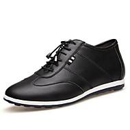 גברים-נעלי אוקספורד-עור-נוחות--שטח-עקב שטוח