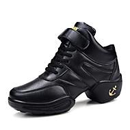 Na míru-Dámské-Taneční boty-Taneční tenisky-Koženka-Nízký podpatek-Černá