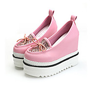 Women's Loafers & Slip-Ons Spring / Summer / Fall Platform / Creepers Leather Outdoor / Casual Platform Bowknot