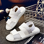 Men's Sandals Summer Other Animal Skin Casual Chunky Heel Others Black White Black and Red Others