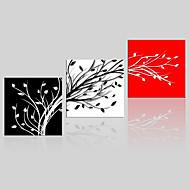 Canvas Set / Kehystämättömät Canvas-tulosta Maisema / Kukkakuvio/Kasvitiede Moderni,3 paneeli Kanvas Neliö Tulosta Art Wall Decor For