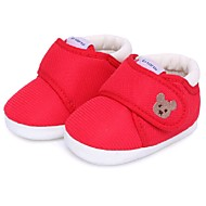 Unisex Flats Winter Crib Shoes Cotton Casual Flat Heel Animal Print Blue Pink Red Khaki Walking