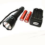 Iluminação Lanternas LED LED 500 Lumens 4.0 Modo Cree XP-E R2 18650.0 Super Leve Campismo / Escursão / Espeleologismo Liga de Aluminio