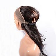 360 Frontal Krop Bølge Menneskehår stenging Medium brun / Mørkebrun Sveitsisk blonde 95-100g gram Gjennomsnitt Cap Size