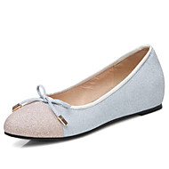 Women's Flats the four seasons Comfort / Ballerina / Round Toe Velvet / Glitter / LeatheretteOffice & Career / Dress /