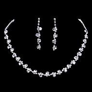 Komplet nakita Ogrlica / Naušnice Moda Pink Ogrlice Füllbevalók Za Vjenčanje Party 1set Vjenčanje Pokloni