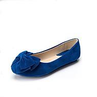 Γυναικεία παπούτσια-Χωρίς Τακούνι-Καθημερινά-Επίπεδο Τακούνι-Στρογγυλή Μύτη / Κλειστή Μύτη / Χωρίς Τακούνι-Δερματίνη-Μαύρο / Μπλε /