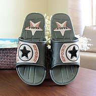 Men's Slippers & Flip-Flops Summer Slingback PVC Casual Flat Heel Others Blue Green Others
