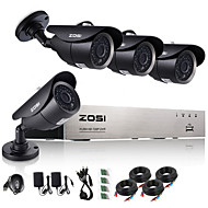 zosi®8ch 720p hdmi ahd cctv dvr 4 stuks 1,0 mp ir outdoor bewakingscamera surveillance systeem