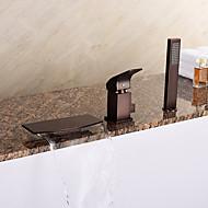 Starožitné / Secese a retro / Moderní Římská vana Vodopád / Včetne sprchové hlavice with  Keramický ventil Single Handle tři otvory for