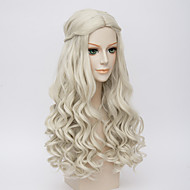 Movice White Queen Cosplay Halloween Natural Wave Costume Wig Anne Hathaway's Wigs