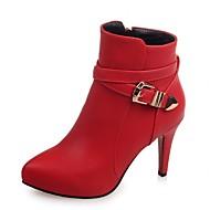 נשים-עקבים-סינטתי עור פטנט דמוי עור-פלטפורמה מגפיי בוקרים\מערב פרוע מגפי שלג מגפי רכיבה מגפי אופנה-שחור אדום אפור-חתונה משרד ועבודה שמלה