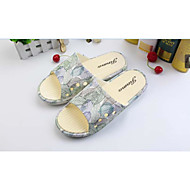 Men's Slippers & Flip-Flops Spring Summer Fall Flats Leatherette Outdoor Flat Heel Applique Yellow Gray Walking