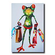 Handgeschilderde Abstract / Dieren / Fantasie Olie schilderijen,Modern / Europese Stijl Eén paneel CanvasHang-geschilderd