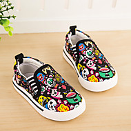 Unisex Loafers & Slip-Ons Summer Canvas Casual Flat Heel Animal Print Black Red Others
