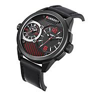 watch men relogios masculinos de luxo marcas famosas military Dual Time Display leather Quartz watch