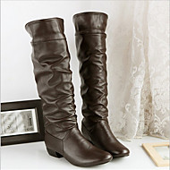 Women's Boots Fall Combat Boots PU Casual Low Heel Others Black Brown White Others