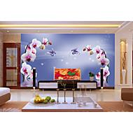Damasco / Floral / Geométrico / Riscas / Art Deco / Azulejo / Sólido Papel de Parede Para Casa Luxuoso Revestimento de paredes ,