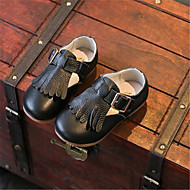 Girl's Flats Fall Ballerina / Round Toe Patent Leather Casual Flat Heel Others Black / Pink / White Others