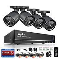 sannce® 8ch 960h hdmi DVR 800tvl venkovní CCTV domácí bezpečnostní kamerový systém hd