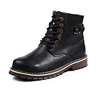 Bootsit-Tasapohja-Unisex-Nahka-Musta Ruskea-Rento-Comfort