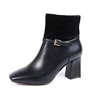 Boty-Kůže Koženka-Jezdecké boty Módní boty Pohodlné Novinky Kovbojské Sněhule Lodičky-Dámské-Černá Růžová-Svatba Outdoor Kancelář Běžné