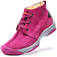 Women's Athletic Shoes Spring/Summer/Fall/Winter Comfort Nappa Leather Outdoor / Athletic Flat Heel Pink Hiking