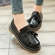 Damen-Loafers & Slip-Ons-Lässig-Kunstleder-Blockabsatz-Komfort-Schwarz
