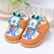 לבנים-שטוחות-PU-נעלי בובה (מרי ג'יין)-כחול / צהוב-שטח-עקב שטוח