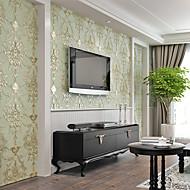 Floral / Art Decó / 3D Fondo de pantalla Para el hogar Contemporáneo Revestimiento de pared , Otro Material adhesiva requeridapapel