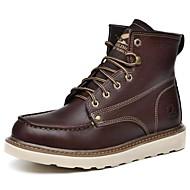Boty-Nappa Leather-Kombat boty-Pánské-Černá Hnědá Tmavošedá-Outdoor Běžné Atletika-Plochá podrážka