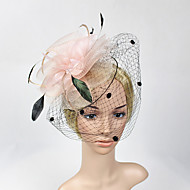 Women's Feather / Net Headpiece-Wedding / Special Occasion Flower Fascinators 1 Piece