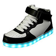 Running Shoes Men's LED'S Shoes Sneakers Fall / Winter Comfort / Party & Evening / Athletic / Casual Flat Heel White / Black / Red