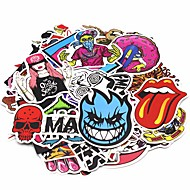 ZIQIAO 200 Pcs/ Pack Random Music Film Vinyl Skateboard Guitar Travel Case Sticker Car Decal Cute Stickers