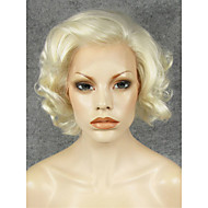imstyle 10fahion short mix de cabelo loiro encaracolado peruca sintética drag queen dianteira do laço