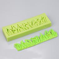 The grass shape silicone mold cake decoration set baking chocolate cake silicon mold