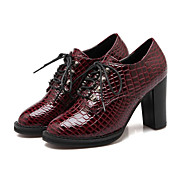 Women's Heels Fall / Winter Heels Leatherette Outdoor / Dress / Casual Chunky Heel Others /Black / Blue / Red Walking