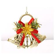 doble Jingle Bells juletrepynt krans krans lystige xmas bjeller hengende dekorasjon for hjem festlig forsyninger