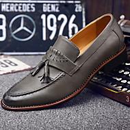 Heren Loafers & Slip-Ons Herfst Comfortabel PU Informeel Zwart / Wit / Kaki