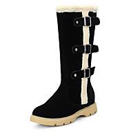 Women's Boots Fall / Winter Snow Boots / Fashion Boots Fur / Fleece/ Dress / Casual Platform Buckle / Fur