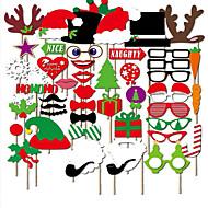 50st foto props kerst ornamenten Kerstmis GLB&rode lippen&snor