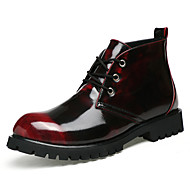 Men's Boots Comfort Leather Casual Black Gold Burgundy