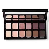 12 Paleta de Sombras Mate / Brilho Paleta da sombra Pó NormalMaquiagem para o Dia A Dia / Maquiagem para Halloween / Maquiagem de Festa /