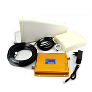 DCS 1800mhz 4G LTE 2G GSM 900mhz Signal Booster Mobile Phone Signal Repeater with Panel Antenna / Log Periodic Antenna