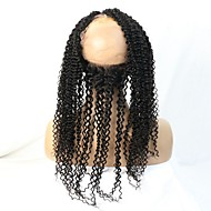 360 Lace Band Frontal Closures Full Around Lace Kinky Curly Illusion Frontal With Natural Hairline