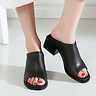 Dámské Sandály Pohodlné Kůže Léto Ležérní Pohodlné Kačenka Černá 5 - 7 cm