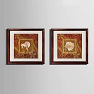 Animal Καμβάς σε Κορνίζα / Σετ σε Κορνίζα Wall Art,PVC Υλικό Καφέ Περιλαμβάνεται Χάρτινο Φόντο με Πλαίσιο For Αρχική ΔιακόσμησηΠλαίσιο